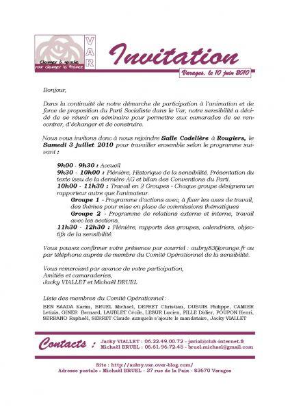 Séminaire de sensibilité invit3072010